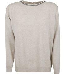 brunello cucinelli back keyhole detail sweater