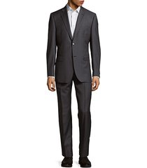 classic-fit tonal chalk stripe wool suit