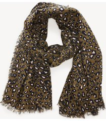 women's leopard print over scarf olive combo viscose from sole society