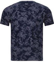 camiseta hombre floral color azul, talla l