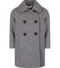 simonetta grey girl coat