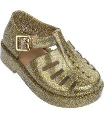 sandalia brillo oro vidrio mini melissa mini aranha 7916