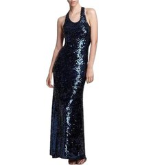 allure sequined maxi dress