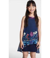 floral asymmetric dress - blue - 9/10