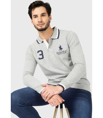 polera royal country of berkshire polo club p/sres gris - calce slim fit