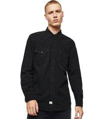overhemd denim d-east-p black