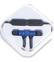 auriculares audifonos bluetooth magnet imantados - azul