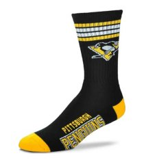 for bare feet pittsburgh penguins 4 stripe deuce crew socks