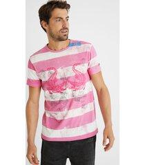 cotton t-shirt printed - red - xxl