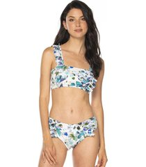 vestido de baño estampado bikini tela ecológica-blanco