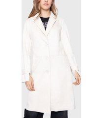 chaqueta ellus blanco - calce regular