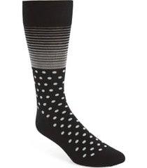 men's cole haan stripe & dot socks, size one size - black