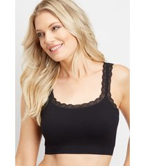 maurices womens ribbed lace seamless bralette