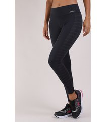 calça legging feminina esportiva cós largo preta