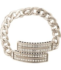 crystal embellished curb chain bracelet