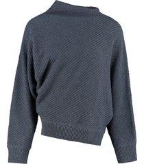 agnona cashmere-linen blend sweater