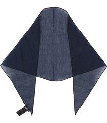 ermenegildo zegna lightweight scarf - blue