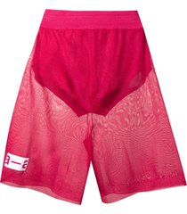 artica arbox sheer track shorts - pink