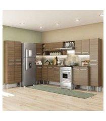 cozinha completa de canto reto madesa emilly live com armário e balcão 17 portas 1 gaveta rustic rustic