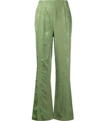 acne studios flared trousers - green