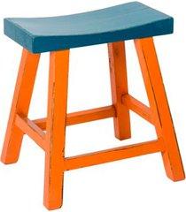 banco de madeira laranja