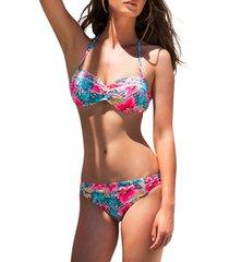 bikini admas 2-delige push-up hawaii roze bikiniset adma's