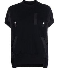 sacai hybrid bomber sweatshirt - black
