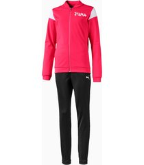 poly trainingpak, roze, maat 140 | puma