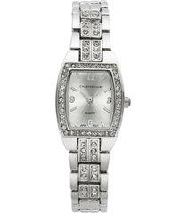 charter club women's silver-tone crystal bracelet watch 28mm