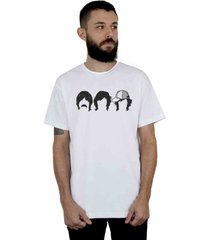 camiseta 182life first date faces branca - branco - masculino - dafiti