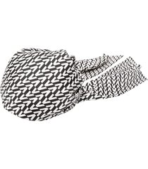 valentino v pattern wrap cap - black
