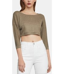 bcbgmaxazria ribbed cropped top