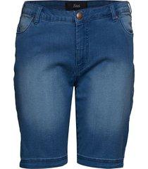 jeans, shorts, emily,slim leg shorts denim shorts blå zizzi