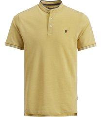 jack & jones men's bluwin band collar polo shirt