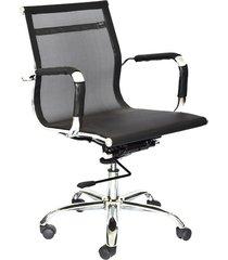 silla para oficina giratoria elegance bice espalda media negra