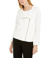 eileen fisher asymmetrical-zip jacket, regular & petite sizes