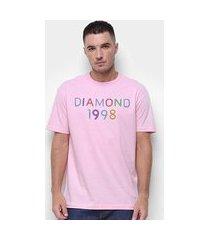 camiseta diamond radiant neon masculina