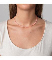 anni lu women's malibu necklace - pink-a-boo