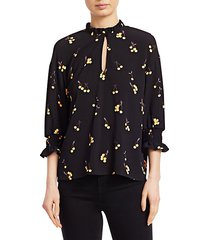it takes a family miley printed blouse