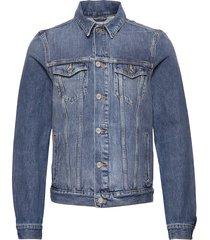classic trucker jacket with label detail jeansjacka denimjacka blå scotch & soda
