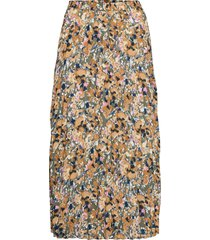 onlalma life poly plisse skirt aop wvn 9 lång kjol multi/mönstrad only