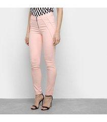 calça acostamento zíper feminina