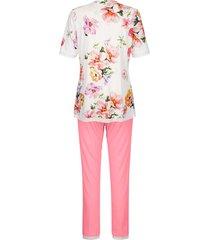 pyjamas ringella benvit/korallröd/syrenlila