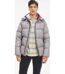 tommy hilfiger men's recycled shell down jacket, steel gray - xxl
