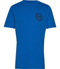 emblem tee t-shirts short-sleeved blå lee jeans