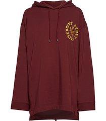 ls back lacing hoodie hoodie trui rood puma