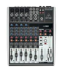 mixer mesa de som behringer 1204usb xenyx analógico 12 canais bivolt cinza