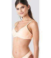na-kd swimwear cup shape bikini top - orange