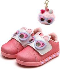 tênis pampili sneaker luz rosa - tricae