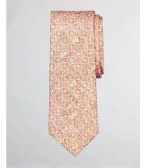 corbata floral tile print naranjo brooks brothers